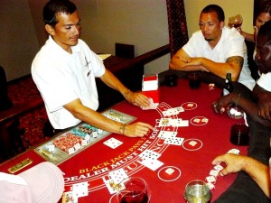 Blackjack Game at Captain's Casino, Captain Morgan's Retreat.