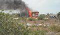 Fire at Marina (Photo 1 of 4 photo(s)).