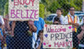 Dozens were there to welcome HRH Prince Henry of Wales to Belize (Photo 4 of 5 photo(s)).
