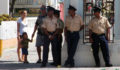 San Pedro Police Officers were out in full force to maintain the peace. (Photo 21 of 23 photo(s)).