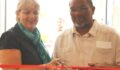 Ribbon Cutting- US Deputy Chief of Mision, Margaret Hawthorne and Minister of National Security, Hon John Saldivar (Photo 3 of 5 photo(s)).