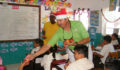San Pedro Town Council brings Christmas treats to Primary School students (7) (Photo 2 of 10 photo(s)).