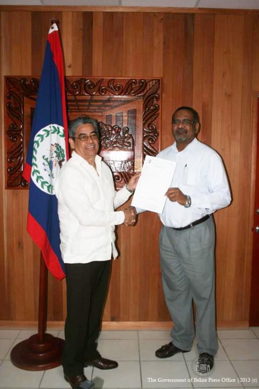 Deputy Prime Minister presents Land Title to University of Belize