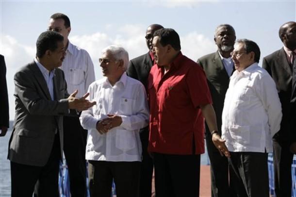 Leonel Fernandez, Hugo Chavez, Said Musa, Raul Castro