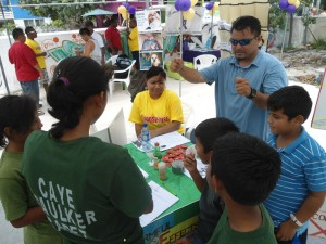SPADAI and NDACC at Caye Caulker Health Fair