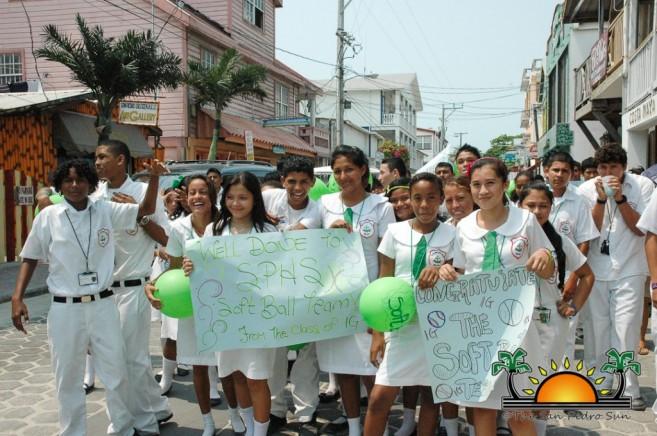 Softball Champions Parade SPHS-15