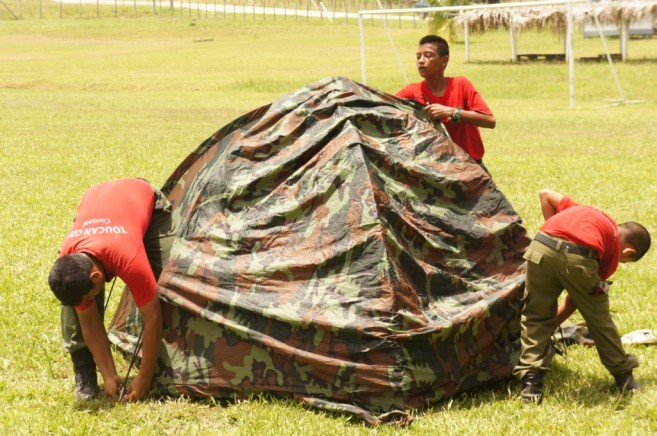 Making Tent