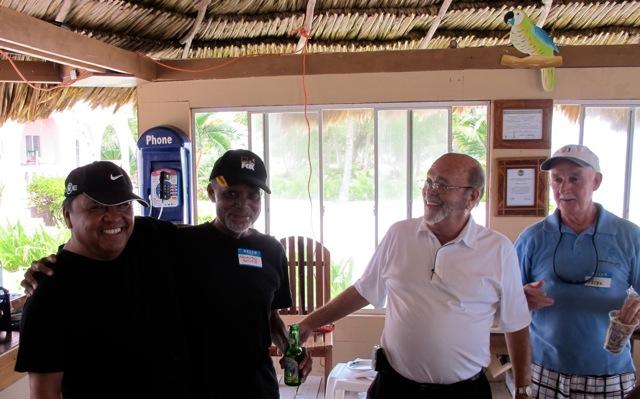 (l-r) Ramon Nunez Jr, Arlando Smith, Bob Utman and Peter Nolan during the Chinese Auction