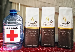Caye Coffee supports the San Pedro Branch of  Belize Red Cross by Karen Brodie