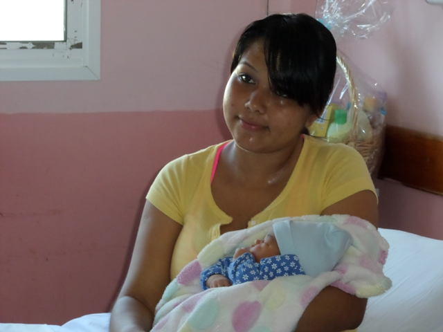 Jasmine Martinez and her newborn girl
