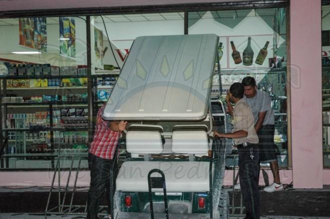 Cart Crashes Island Supermarket-2