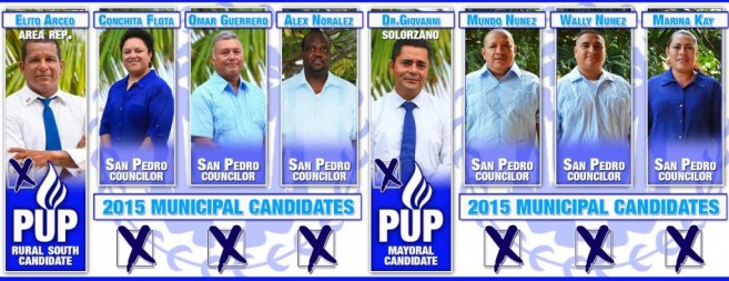 The 2015 PUP Rural South and San Pedro Municipal Candidates