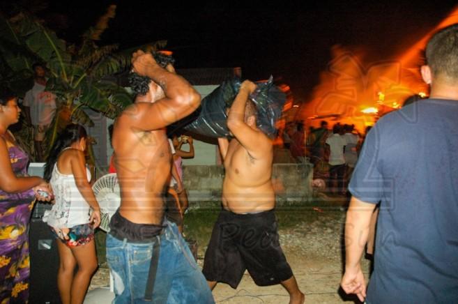 Boca Del Rio Fire San Pedro Ambergris Caye-1