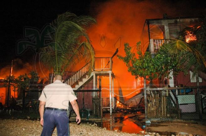 Boca Del Rio Fire San Pedro Ambergris Caye-3