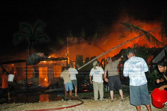 Boca Del Rio Fire San Pedro Ambergris Caye-7
