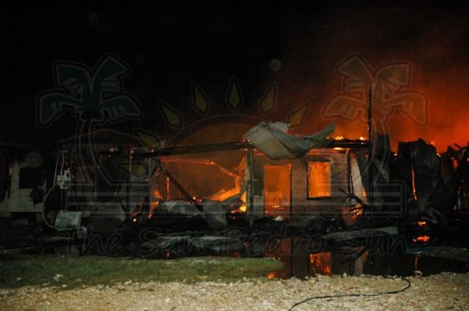 Boca Del Rio Fire San Pedro Ambergris Caye-9