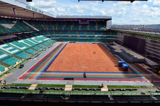Celtic Park (photo courtesy of  FaceBook- Commonwealth Games 2014 Glasgow)
