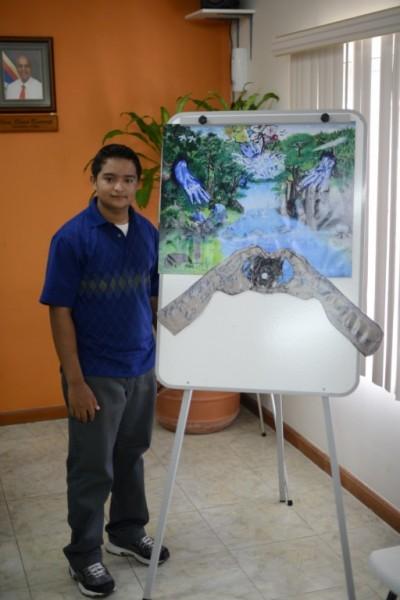 Dengry Hernandez of Ladyville Technical High School