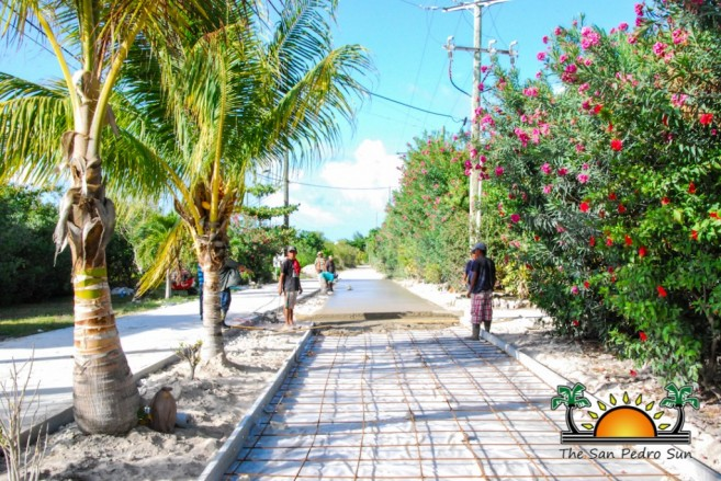 North Ambergris Caye Paving Roads SPTC-2