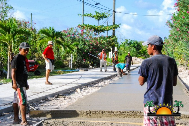 North Ambergris Caye Paving Roads SPTC-3