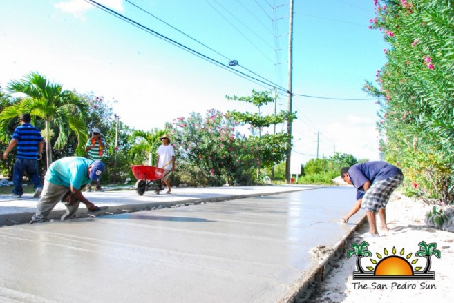 North Ambergris Caye Paving Roads SPTC-4