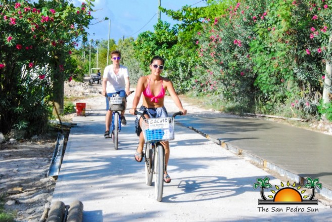 North Ambergris Caye Paving Roads SPTC-6