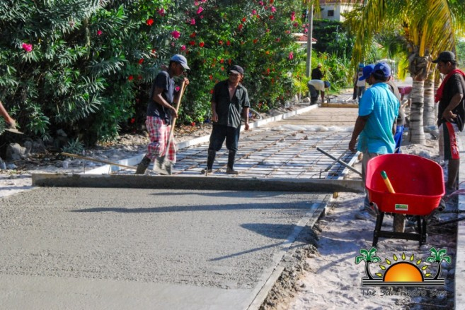 North Ambergris Caye Paving Roads SPTC-7
