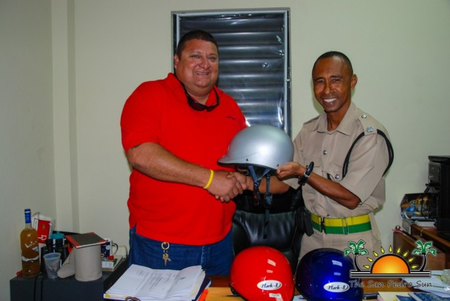 Helmets Donated San Pedro Caye Caulker Police-1
