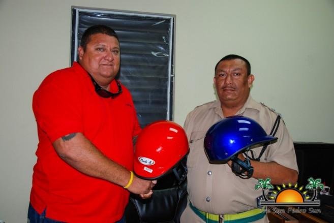 Helmets Donated San Pedro Caye Caulker Police-2