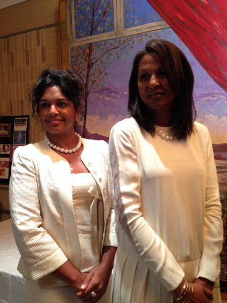 Kim Simplis Barrow With First Lady of Trinidad