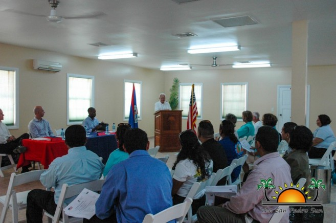 US Ambassador Business Meeting Ambegris Caye-2