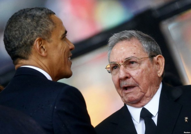 President Obama and Raul Castro
