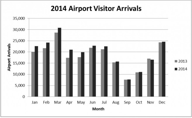 Airport Visitor Arrivals Graph