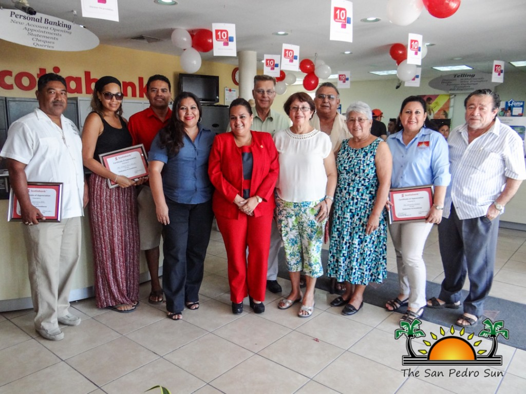 Scotiabank celebrates 10 years of service in San Pedro - The San