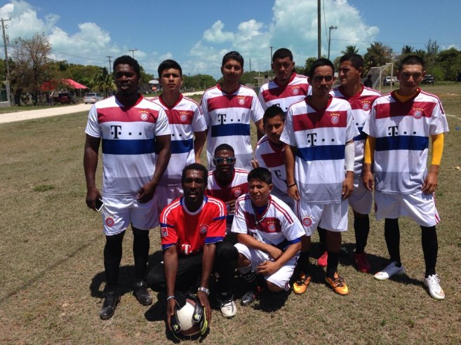 14 San Pedro Football Team in Sarteneja
