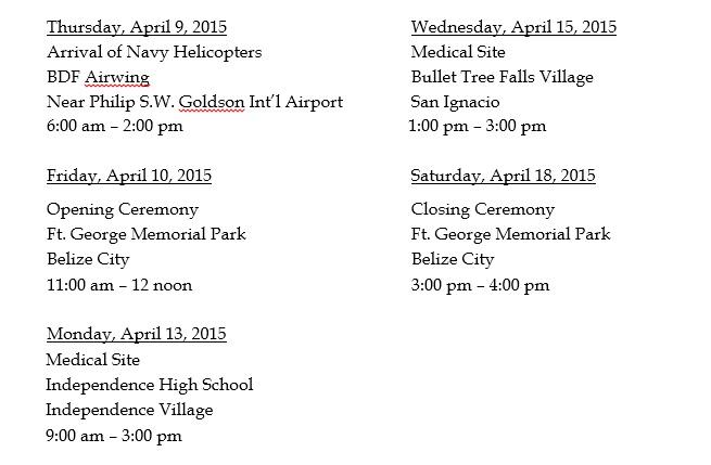 Navy Schedule