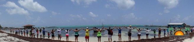 Oceana in Belize Hands Across the Sand-1