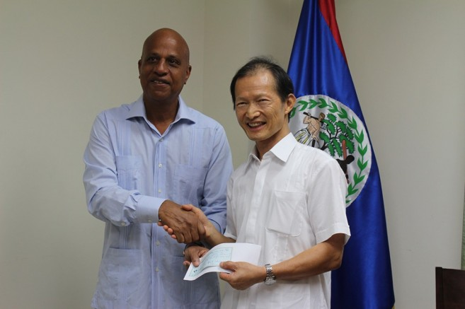 Taiwan-Belize-Cheque