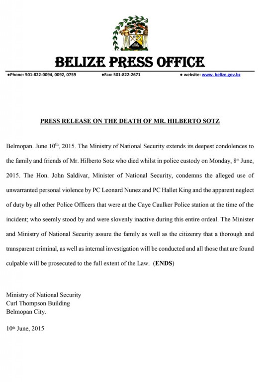Press-Release-On-the-Death-of-Mr