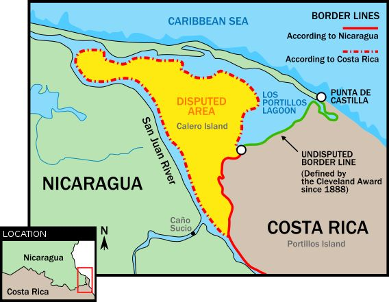 Costa Rica & Nicaragua territorial dispute