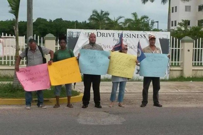 Protest against Moralez in Belize courtesy of Jose Sanchez-1