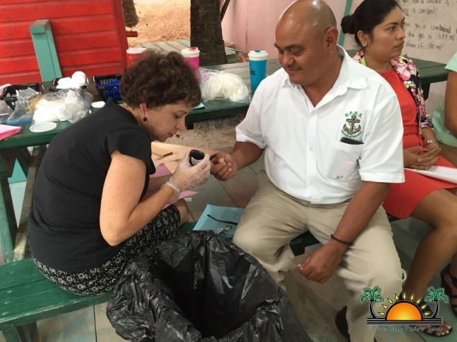 Judy Mitnick testing SPHS Principal, Emil Vasquez