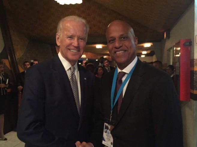 US VP Bidden with Belize PM Barrow