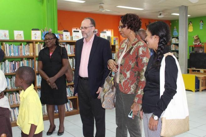 CARICOM Donates to Leo Bradley Libary (1)
