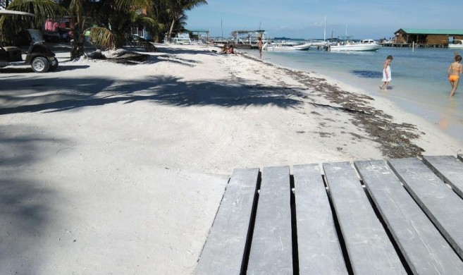 Caye Caulker Gets New Beach-1