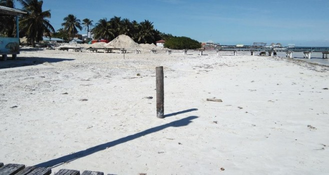 Caye Caulker Gets New Beach-3