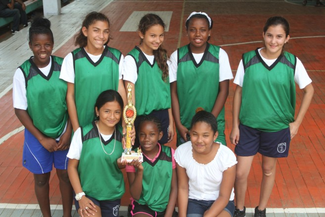 San Pedro RC girls won Belize Zone 5 basketball champs