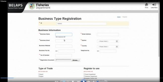 BELAPS registration form