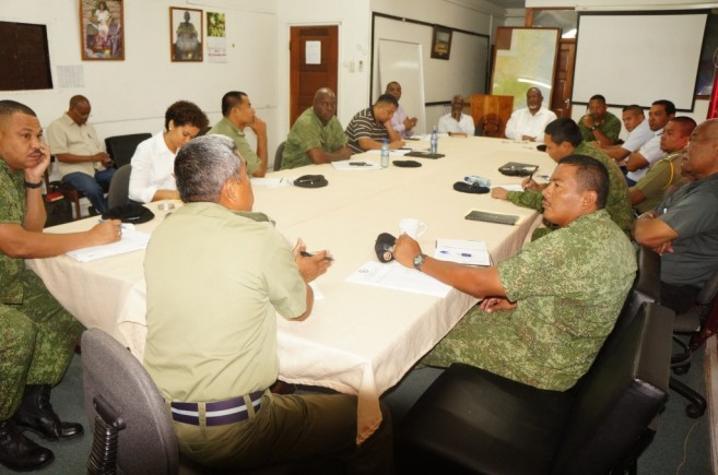 Belize National Security Military Meeting