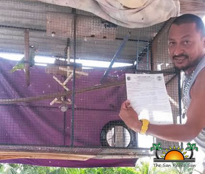 Parrot Inspection Belize Forestry Department Permits-3